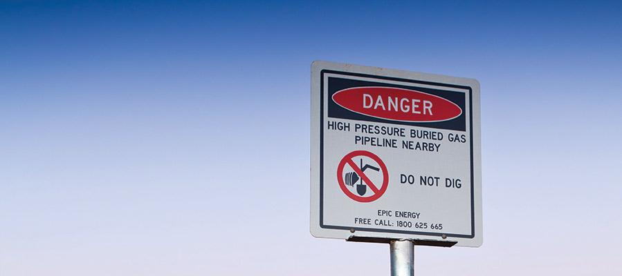 Epic Danger sign sunset